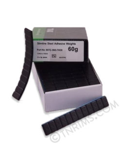 Svart klistervikter 3 kg TRAX (eu produkt)