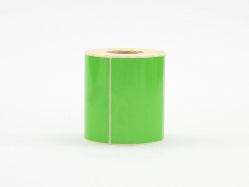 Däcketikett grön 100x74mm